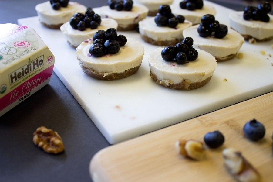 Mini Blueberry Ne ChevreCheezecakes