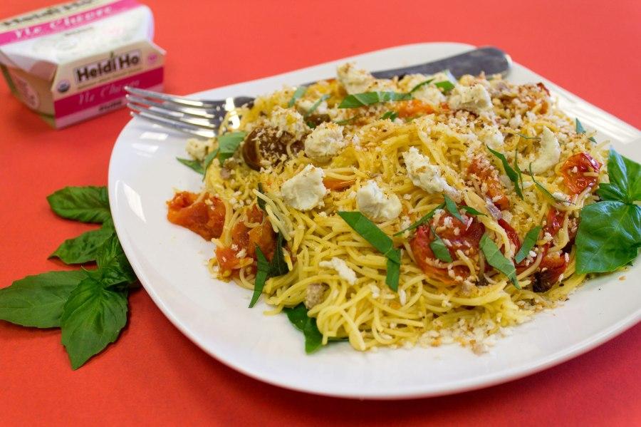 Fresh tomato & basil pasta w/ Pure NeChevre