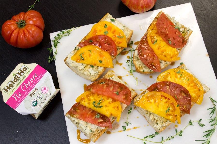 Heirloom Tomato Toast w/ Rosemary & ThymeChevre